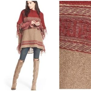 Free people poncho sweater - NWT